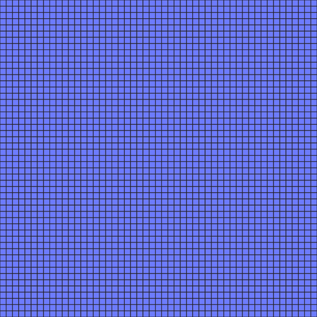 Vector seamless pattern. Cage is black line on a blue background.