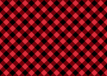Carte large noire et rouge à carreaux diagonale Fond de mode de vecteur. Vecteurs