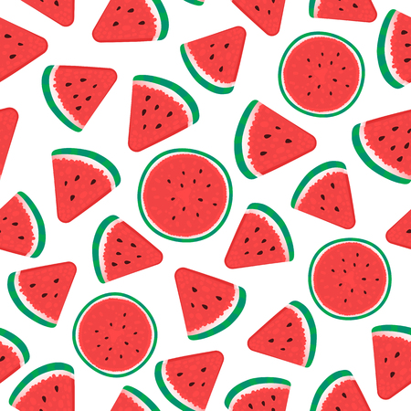 Watermelon Seamless pattern surface design. Vector illustration isolated on white background