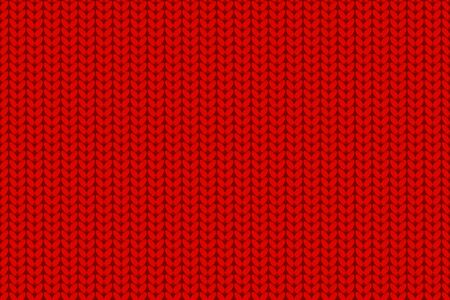 Wide Knitted fabric red background. Seamless pattern Holiday surface design Vector repeat backdrop for Merry Christmas banner