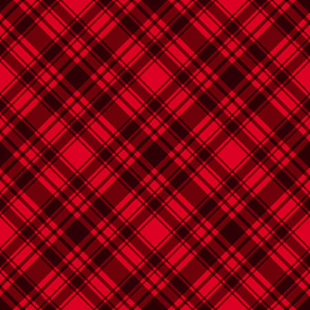 Red with dark diagonal stripes seamless pattern background. Vector checkered abstract. Trend Merry Christmas and New Year tablecloth cage texture