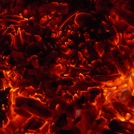 the hot coals of hell on black Фото со стока - 88806624