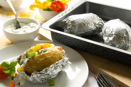aluminum foil: Baked potato