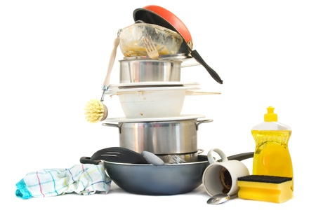 Dirty dishes Stock Photo - 12416533