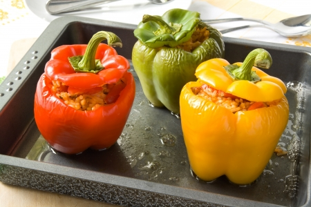 Stuffed bell peppers Stock Photo - 12420476