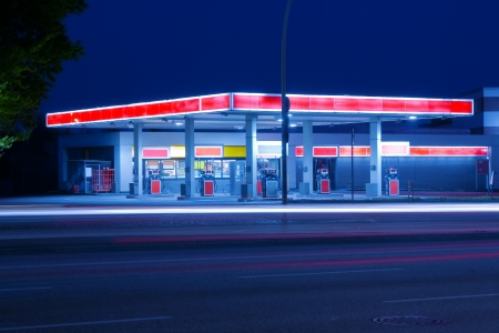 gas station: Petrol station