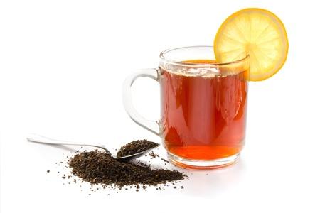 dried leaf: Cup of tea