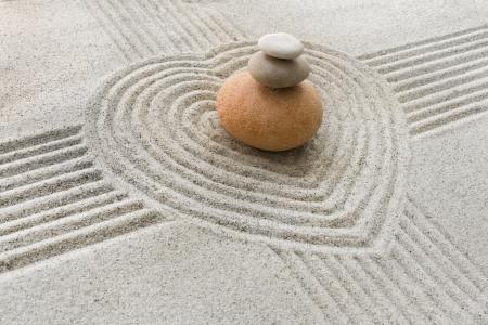 piedras zen: Jard�n zen Foto de archivo