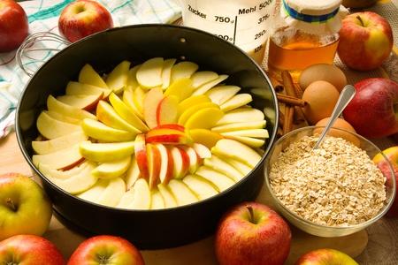 apple pie: Baking an apple pie