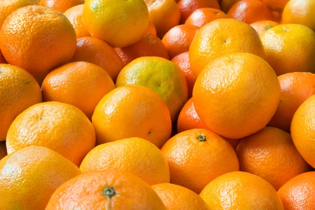 clementines: Full frame image of a large group of clementines