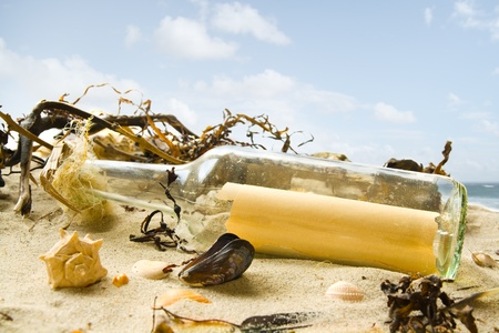 Message in a bottle Stock Photo - 12420562