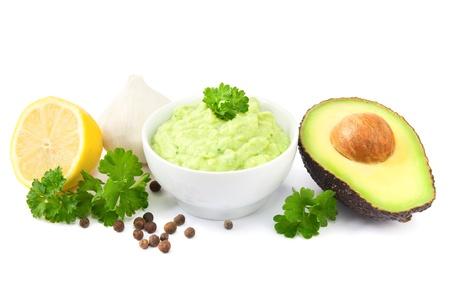 guacamole: Guacamole and ingredients