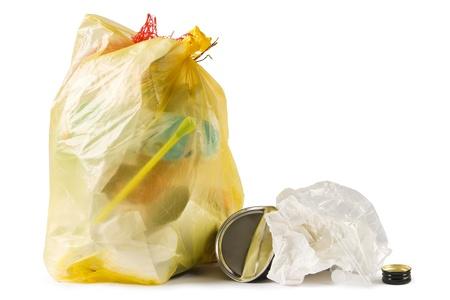 garbage disposal: Garbage bag Stock Photo