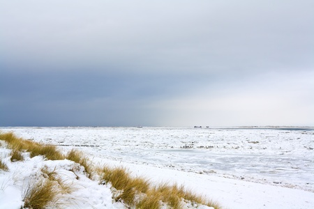 The island of Sylt in northern Germany in winter photo