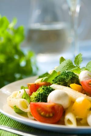 Pasta salad with mozzarella Stock Photo - 12420742