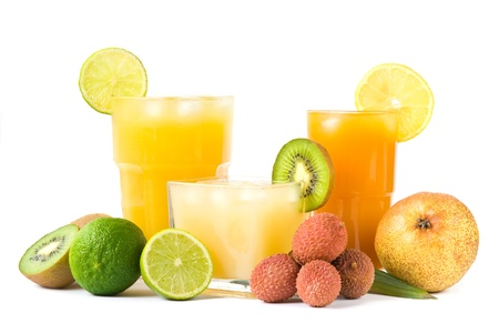 fruit juices: Tropical drinks Stock Photo