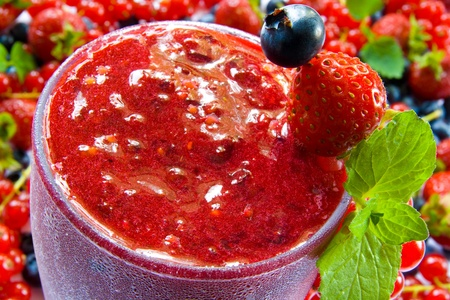 Red smoothie photo
