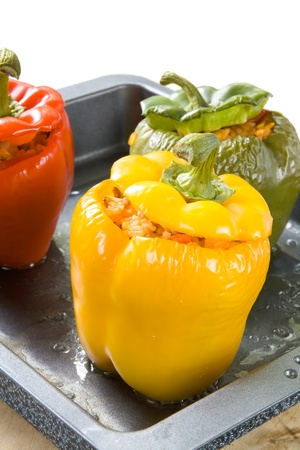 red peppers: Stuffed bell peppers
