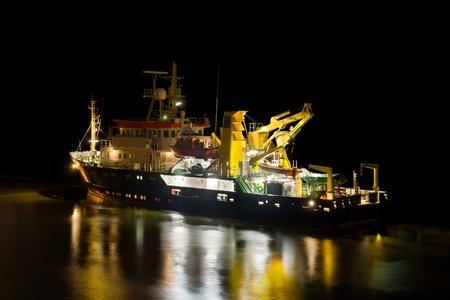 guard ship: Ship at night
