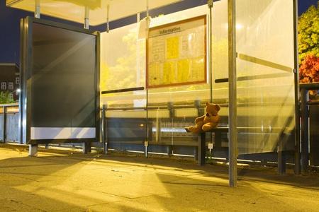 Waiting for the bus Zdjęcie Seryjne - 12424170
