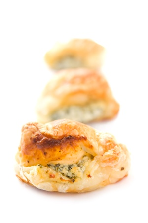 Puff pastry with cheese photo