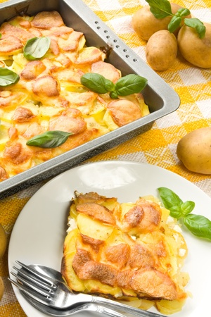 Fresh gratin with potatoes Stock Photo - 12417417