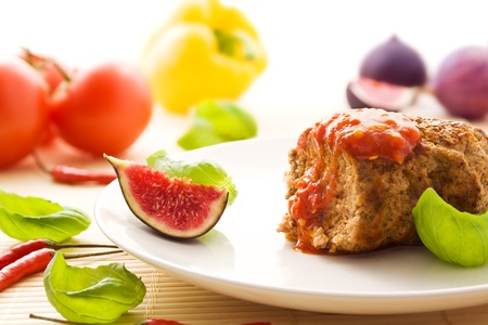 Meatball with a fruity chili sauce Stock Photo - 12417562