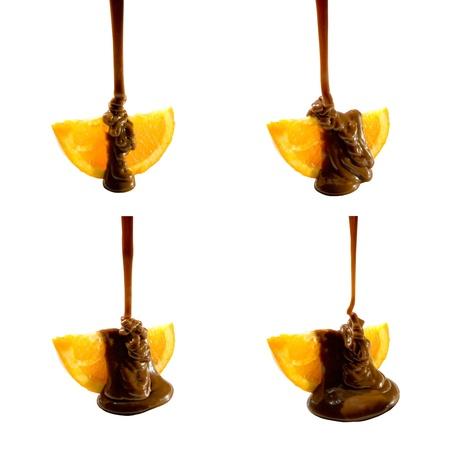 chocolate slice: Orange and chocolate