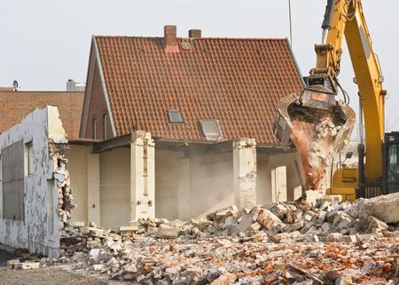 Abriss eines Gebäudes