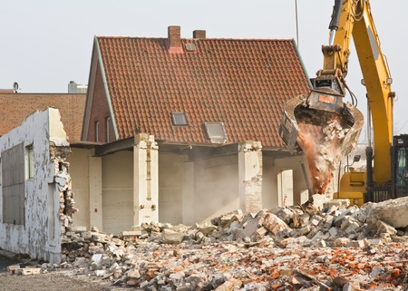 Demolition of a building photo