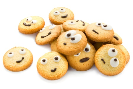 cookie on white: Funny cookies