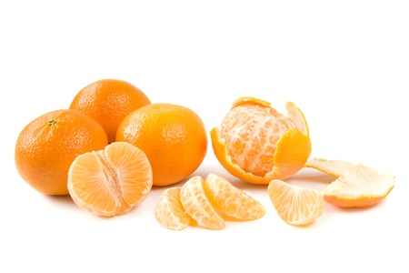 clementines: Clementines on white Stock Photo