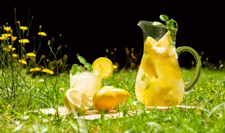 Lemonade in meadow photo