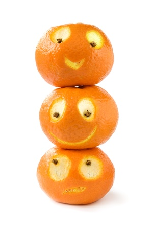 Funny tangerines photo