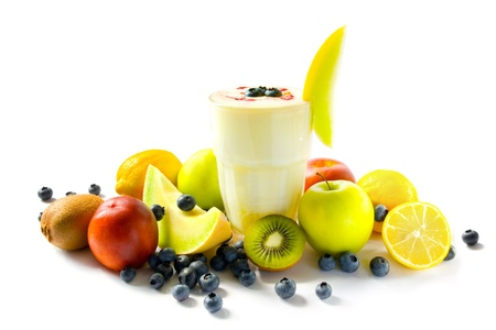 Milkshake with fruits