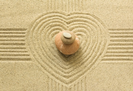 stack rock: Zen heart