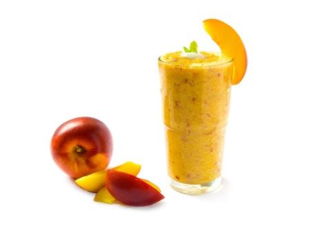 slush: Nectarine smoothie Stock Photo