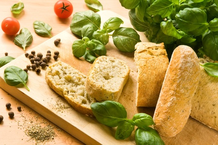 Italian ciabatta bread with herbs and spices Stock Photo - 12417090