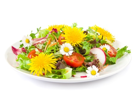Salad with blossoms Stock Photo - 12416904