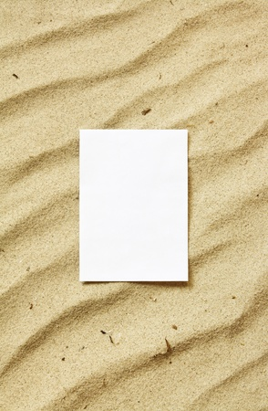 Card on sand photo