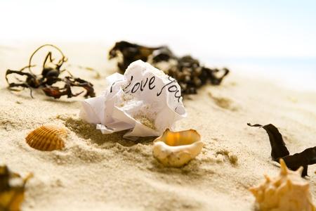 heartsick: Screwed love letter Stock Photo