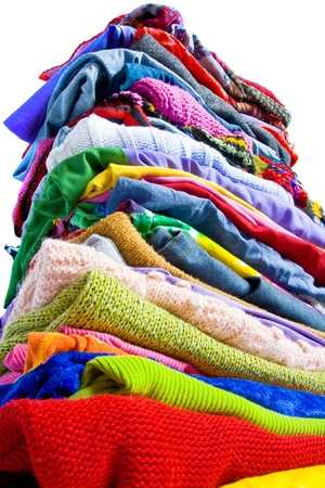 laundry pile: Colorful clothes