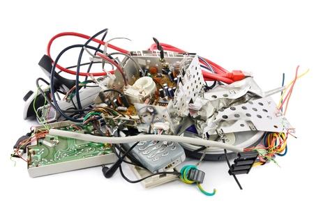 Śmieciarka: MaÅ'e sterty mieszanych odpadów elektronicznych