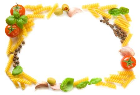 Pasta ingredients frame
