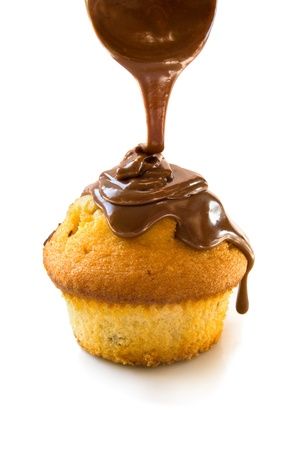 dropping: Muffin with chocolate