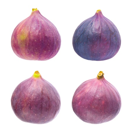 purple fig: Four figs isolated on a white background