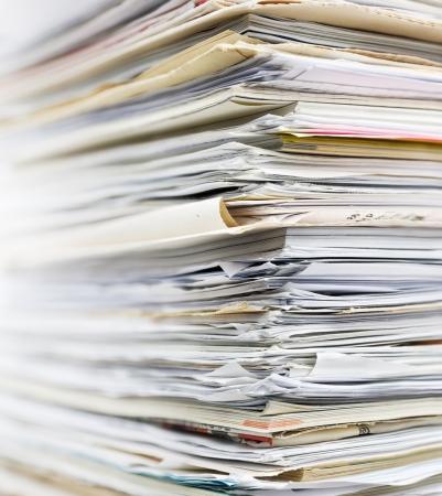Stapel Altpapier für das Recycling