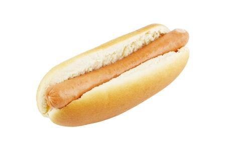 plain: Hot dog isolated on a white background