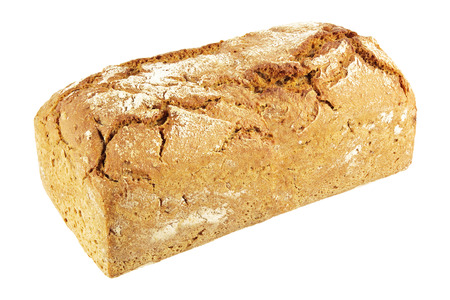 rye bread: Rye bread isolated on white.