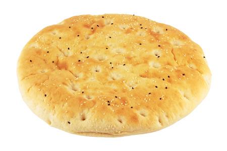 turkish bread: Turkish flatbread isolated on white Stock Photo
